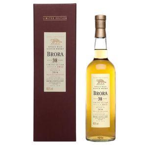 WHISKY BOURBON SCOTCH Whisky Brora 38 ans d'âge Edition Limitée 2016 Sin