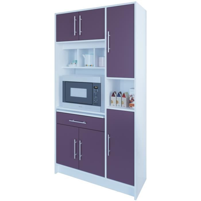 pepper buffet de cuisine l 88cm aubergine achat. Black Bedroom Furniture Sets. Home Design Ideas