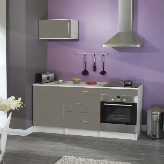 Cuisine compl te trendy taupe achat vente cuisine for Cuisine complete taupe