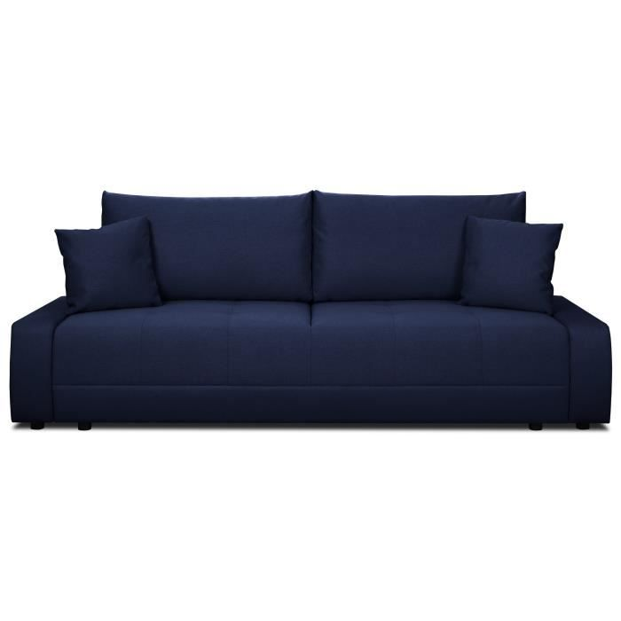 ROBBY Banquette convertible 2 places Tissu bleu Style