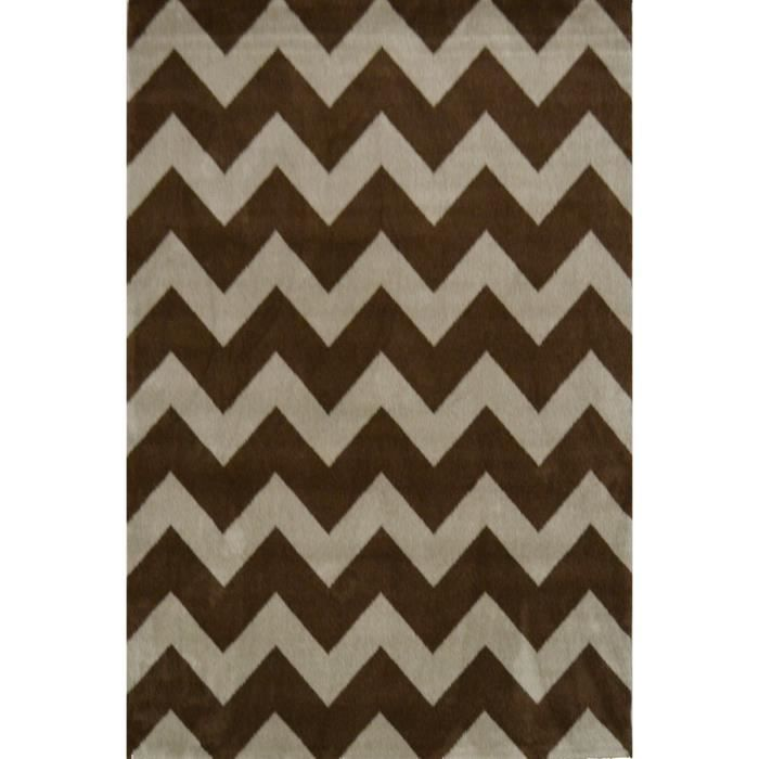 chevrons tapis de salon 80x150 cm marron rouge et beige achat vente tapis 100 polypropyl ne. Black Bedroom Furniture Sets. Home Design Ideas