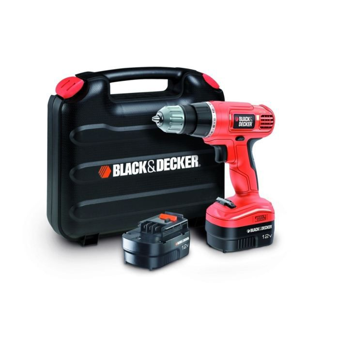PERCEUSE BLACK & DECKER Perceuse sans fil EPC12CABK 2x12V