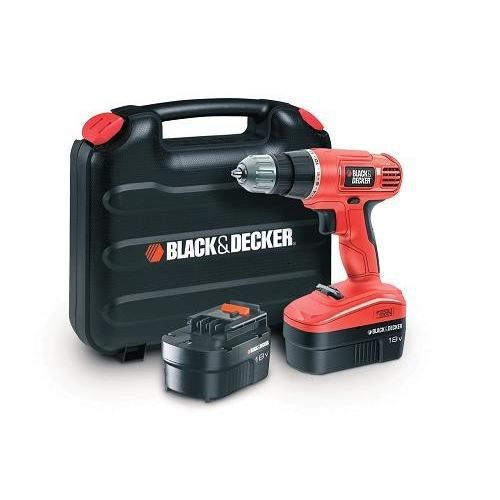 black decker perceuse visseuse epc18cabk 2x18v achat vente perceuse visseuse cdiscount. Black Bedroom Furniture Sets. Home Design Ideas