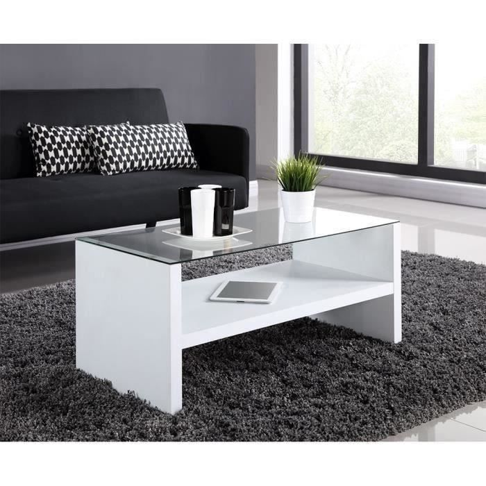 naya table basse 90 cm blanc achat vente table basse naya table basse blanc structure. Black Bedroom Furniture Sets. Home Design Ideas