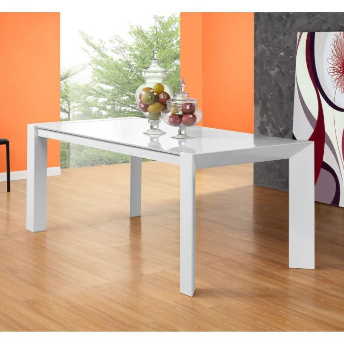 Dreamy table extensible 180 270cm en verre blanc achat vente table mang - Table a manger verre extensible ...