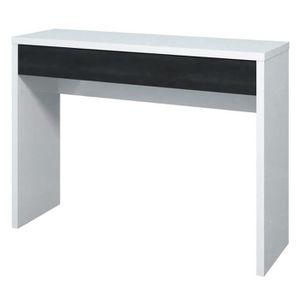 CONSOLE ARENA Console style contemporain blanc et noir bri