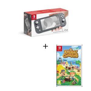 CONSOLE NINTENDO SWITCH Pack Nintendo Switch Lite Grise + Jeu Animal Cross