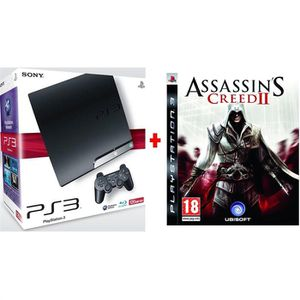 CONSOLE PS3 SONY PS3 SLIM 120 Go ASSASSIN'S CREED 2