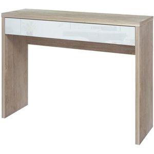 CONSOLE ARENA Console contemporain décor chêne blanchi et