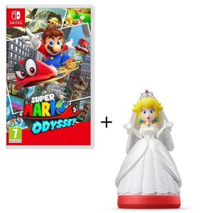 JEU NINTENDO SWITCH Super Mario Odyssey Jeu Switch + Figurine amiibo P
