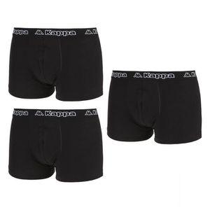 BOXER - SHORTY KAPPA Pack de 3 Boxers Noir Homme