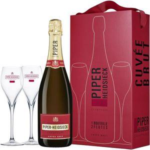 COFFRET CADEAU VIN Champagne Piper-Heidsieck Cuvée Brut 12° 75 cl ave