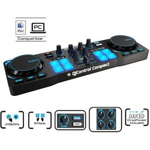 TABLE DE MIXAGE HERCULES DJControl Compact Table de mixage 2 voies