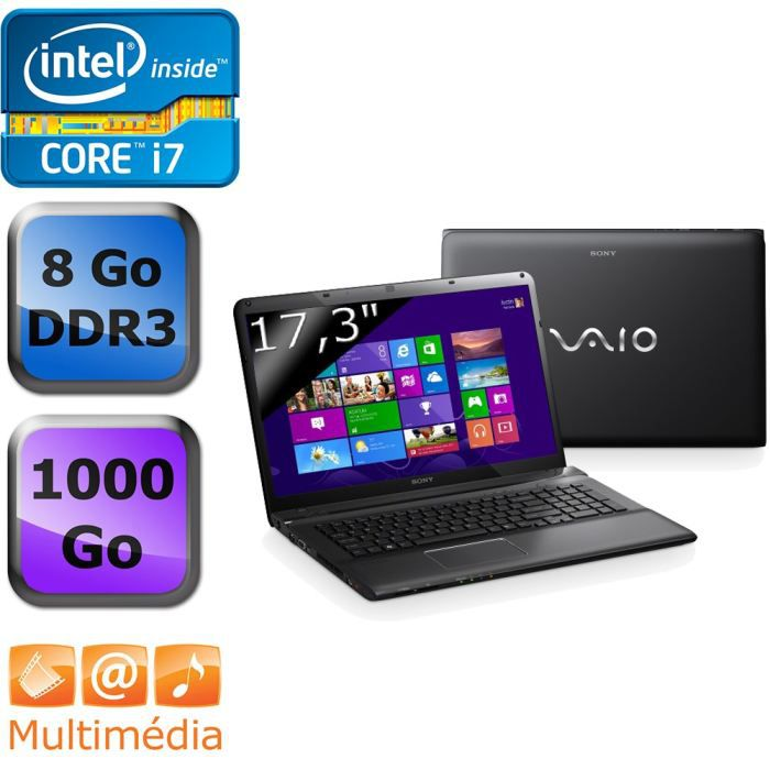 sony vaio sve1713i4eb achat vente ordinateur portable. Black Bedroom Furniture Sets. Home Design Ideas
