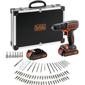 BLACK & DECKER Perceuse-visseuse BDCDC18BAFC 2x18