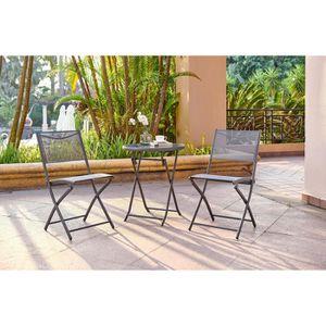 Ensemble table et chaise de jardin FINLANDEK - Ensemble salon de jardin 2 places - Ta