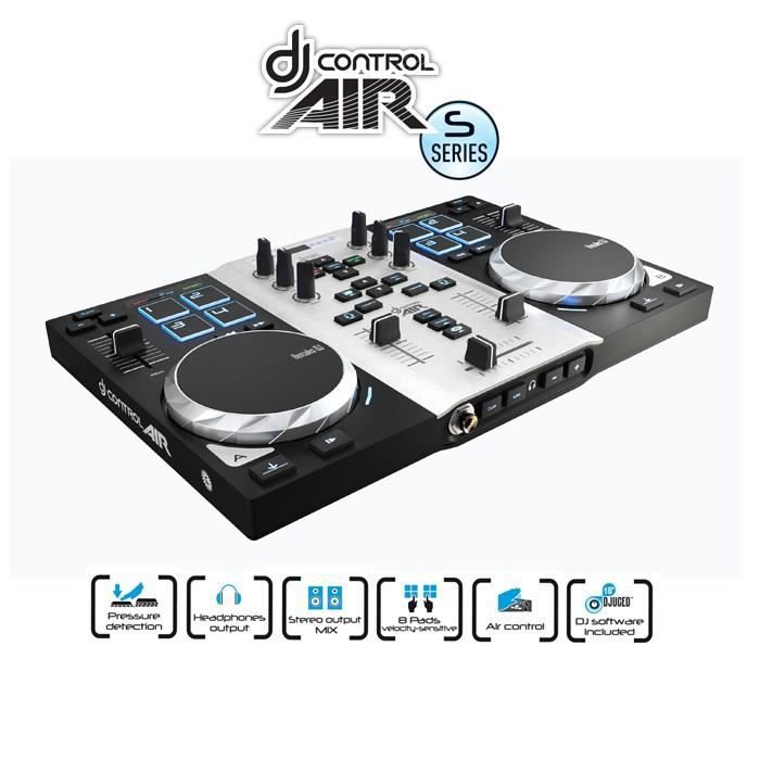 hercules djcontrol air s table de mixage table de mixage avis et prix pas cher cdiscount. Black Bedroom Furniture Sets. Home Design Ideas