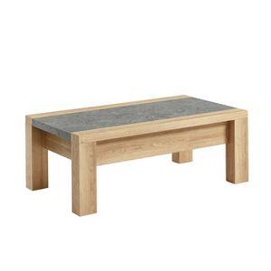 TABLE BASSE SHAKE Table basse style contemporain décor bois et