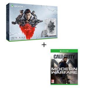 CONSOLE XBOX ONE Xbox One X 1 To Edition Limitée+5 jeux Gears of Wa