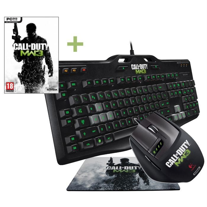 logitech gaming g105 g9x call of duty mw3 achat vente pack clavier souris logitech g105. Black Bedroom Furniture Sets. Home Design Ideas