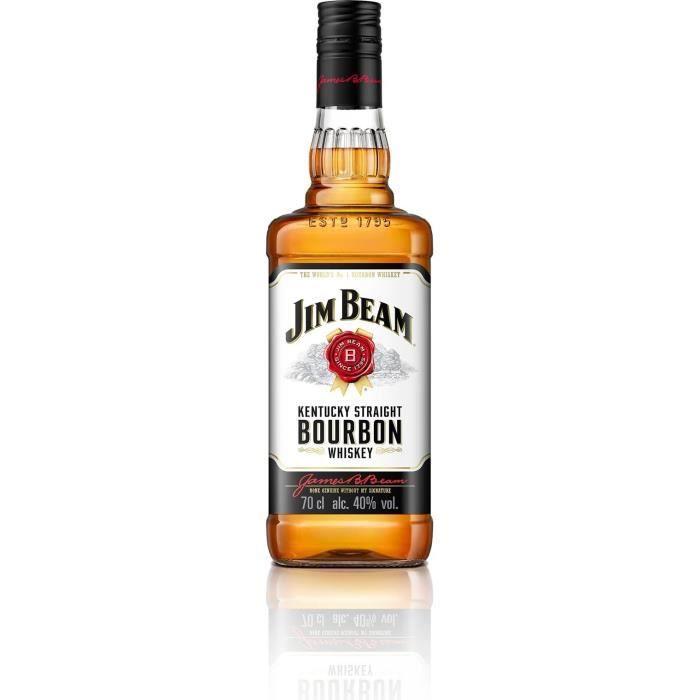 WHISKY BOURBON SCOTCH Jim Beam White - Kentucky Bourbon - 40%vol - 70cl