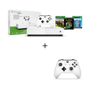 CONSOLE XBOX ONE Xbox One S All Digital 1 To + Manette Xbox One bla