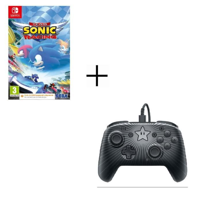Jeu Nintendo switch Sonic Racing + Manette filaire