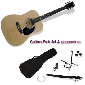 GUITARE DELSON Pack Guitare Folk Montana naturelle + acces