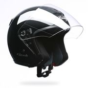 CASQUE Stormer Casque jet Flash Noir brillant