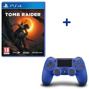 JEU PS4 Shadow Of The Tomb Raider + Manette DualShock 4 Bl