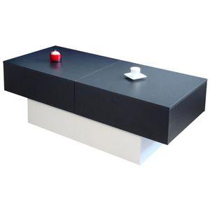 TABLE BASSE MALICIA Table basse style contemporain décor noir
