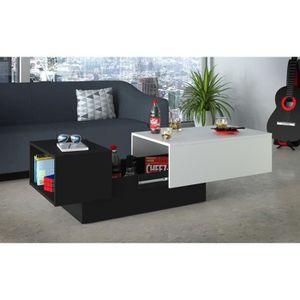 TABLE BASSE SODA Table basse style contemporain noir et blanc