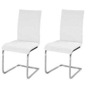 CHAISE LEA Lot de 2 chaises de salle à manger - Simili bl