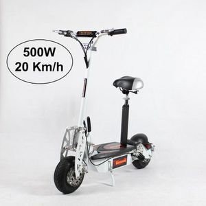 TROTTINETTE ELECTRIQUE Trottinette Electrique Adulte 500W Blanc