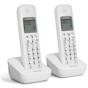 Téléphone fixe Thomson Téléphone Dect Mica Duo Blanc
