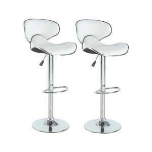 Affordable Tabouret De Bar York Lot Tabourets Rglables Blanc Uua With C Discount