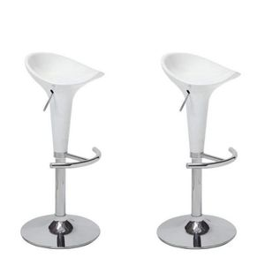 TABOURET DE BAR POP Lot de 2 tabourets de bar blanc - Contemporain