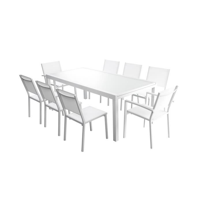 Ensemble table extensible 200 300 cm 8 chaises for Ensemble table et chaise extensible