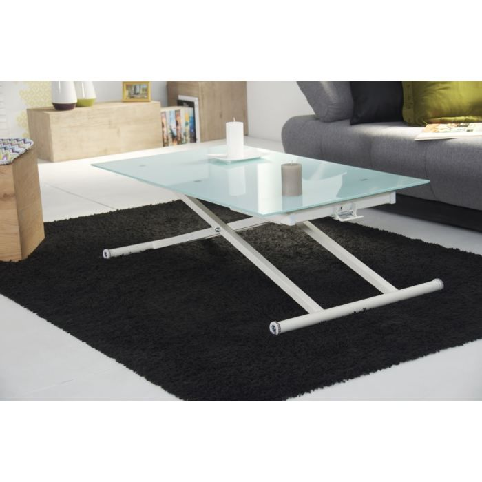 table basse en verre qui monte. Black Bedroom Furniture Sets. Home Design Ideas