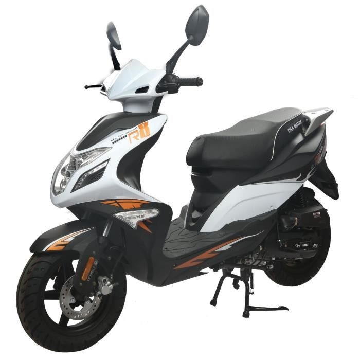 eurocka scooter 50cc r8 blanc achat vente scooter r8 50cc blanc cdiscount. Black Bedroom Furniture Sets. Home Design Ideas