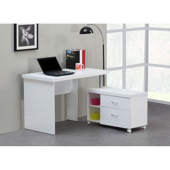 flexi bureau 110 cm blanc achat vente bureau flexi bureau 110 cm blanc bois panneaux de. Black Bedroom Furniture Sets. Home Design Ideas