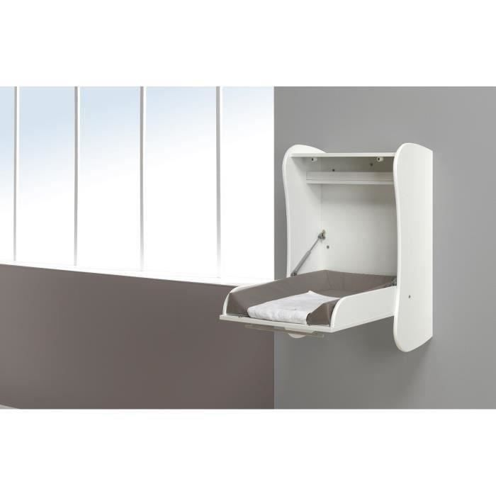 Sofamo table langer murale flore mixte blanc achat vente table langer 3700429513118 - Table a langer murale occasion ...