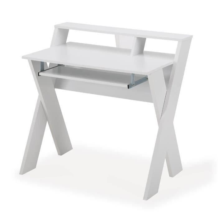 Bureau 90cm blanc meubles bon prix moncornerdeco for Bureau 13 review