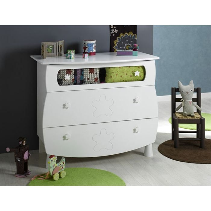 K roumanoff commode linea blanc achat vente commode for Decoration chambre katherine roumanoff