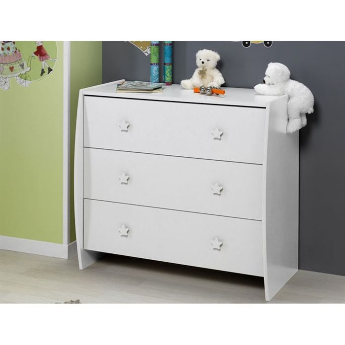 sofamo commode soho blanc achat vente commode b b. Black Bedroom Furniture Sets. Home Design Ideas