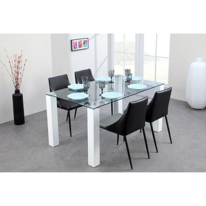 table sejour blanche maison design. Black Bedroom Furniture Sets. Home Design Ideas