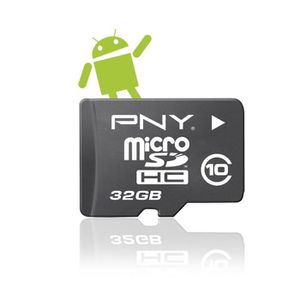 CARTE MÉMOIRE PNY MicroSD Android 32 Go - Classe 10