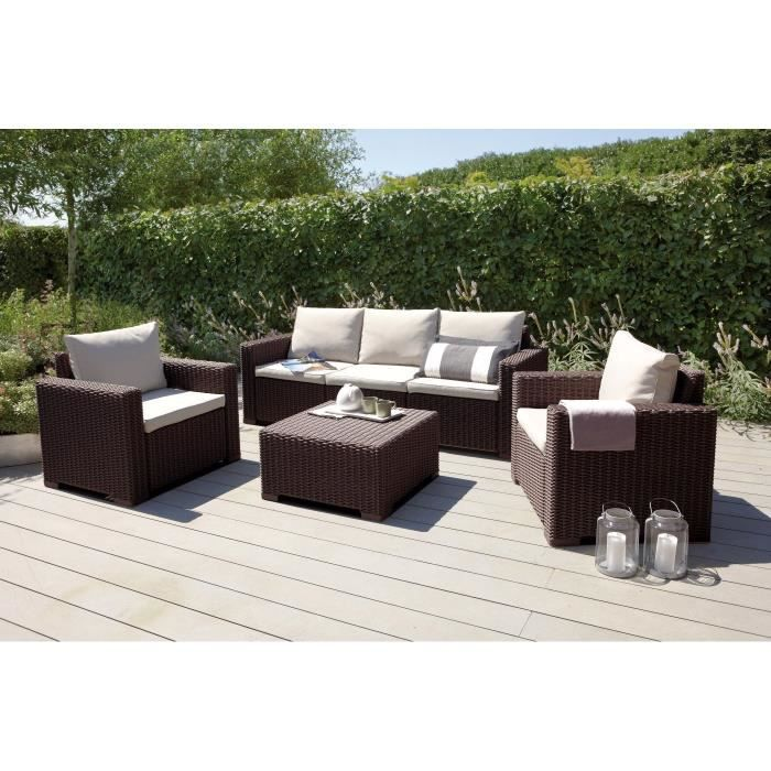 California salon de jardin 5 places aspect rotin tress achat vente salon - Salon de jardin a prix discount ...