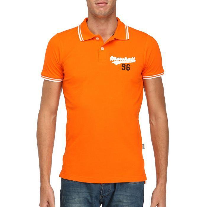US MARSHALL Polo Homme Orange Orange - Achat