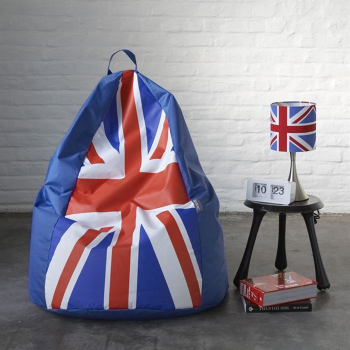 v2 design pouf poire union jack achat vente pouf poire cdiscount. Black Bedroom Furniture Sets. Home Design Ideas